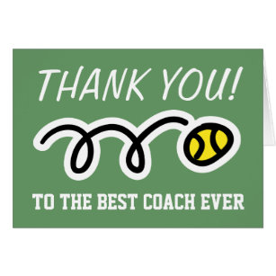Tennis coach thank you cards greeting photo cards zazzle thank you coach tennis greeting cards m4hsunfo
