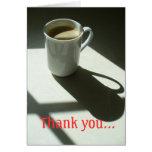 Thank you coffee card