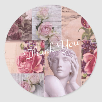 Thank You  Collage Stickers For Gifts