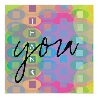 Thank You Colorful Card Custom Invitations