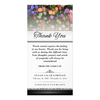 Thank You Colorful Flowers -Words Cannot Express Photo Card