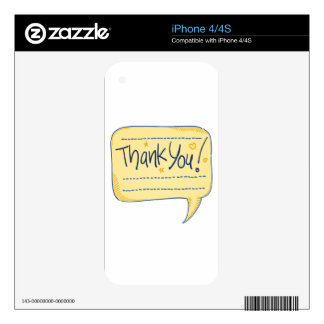 Thank You Comics Bubble Skin For iPhone 4S