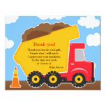 "Thank You Construction Card 4.25"" X 5.5"" Invitation Card"