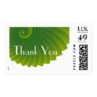 Thank You Contemporary Postage Stamp