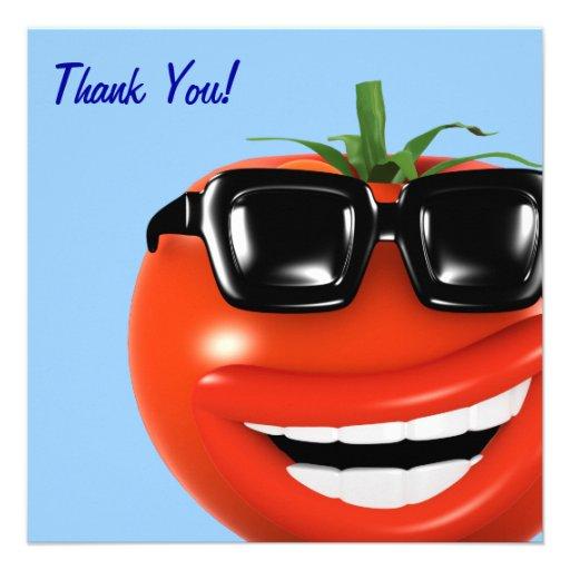 Thank You! Cool Tomato Thankyou 5.25x5.25 Square Paper ...