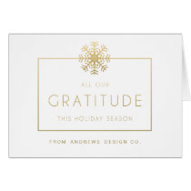 Thank You Corporate Holiday Greeting Card
