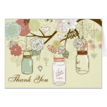 Thank You Country Rustic Mason Jar  Cards