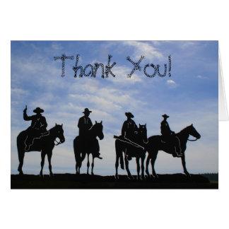 Thank You Cowboys greeting card