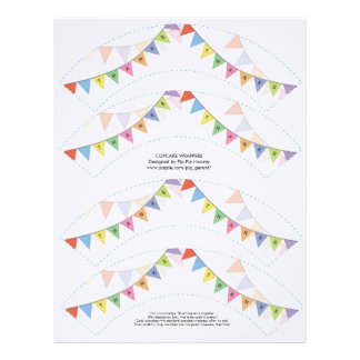 Thank You Cupcake Wrappers Printable Template Letterhead