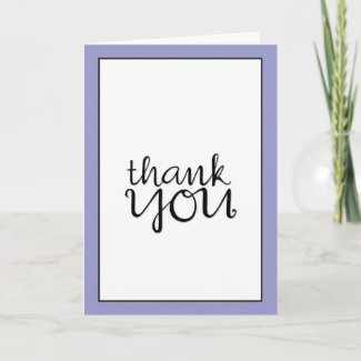 Thank You Cursive black framed Card card