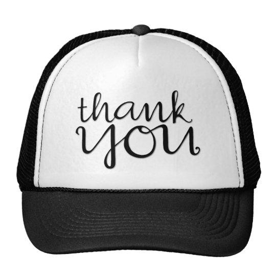 Thank You Cursive black Hat