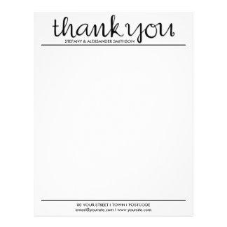 Thank You Cursive black Letterhead
