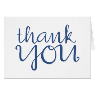 Thank You Cursive blue 2 Card