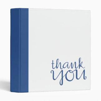 Thank You Cursive blue Binder