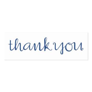 Thank You Cursive blue Business Card