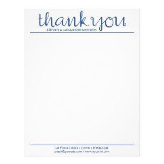 Thank You Cursive blue Letterhead