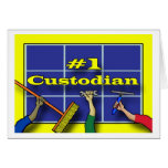 Thank You Custodian, Tools of the Trade Greeting Card
