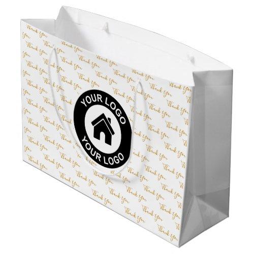 Thank You Custom Business Logo Large Gift Bag