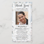 """Thank You Custom Photo Sympathy - Floral Stone<br><div class=""""desc"""">Thank You Custom Photo Sympathy Soft White Floral Stone Art &amp; Design by Julie Alvarez JULIEAGIFTS.COM If you need any help with the customization or would prefer me to set-up your card for you, please send me an email at: julie@julieagifts.com and copy and paste the product ID below in the...</div>"""