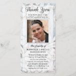 Thank You Custom Photo Sympathy - Floral Stone