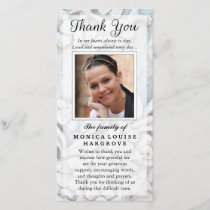 Thank You Custom Photo Sympathy - Floral Stone