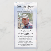 Thank You Custom Photo Sympathy - Peaceful Sky