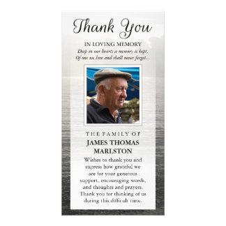 Thank You Custom Photo Sympathy - Peaceful Water Card