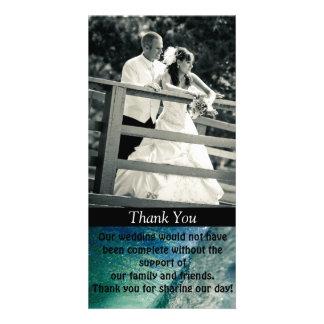 Thank you Custom Photo Wedding Card