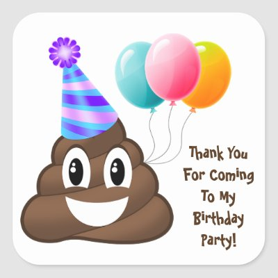 Emoji Personalized Stickers Birthday Favor Labels
