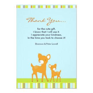 Thank You Cute AnimalsFlat Card