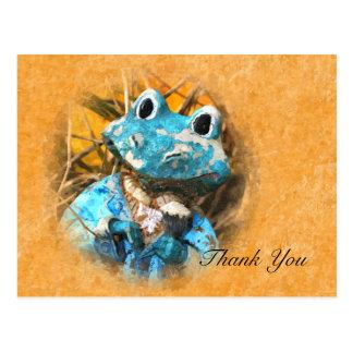 Thank You Cute Frog Prince Postcard