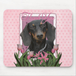 Thank You - Dachshund - Winston Mouse Pad