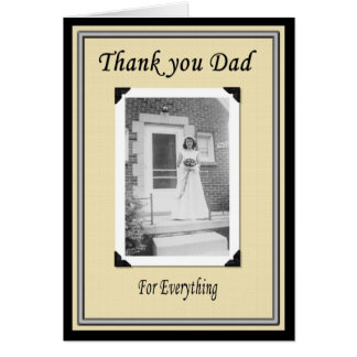 Thank you Dad after Wedding Card
