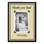 Thank you Dad after Wedding Greeting Card