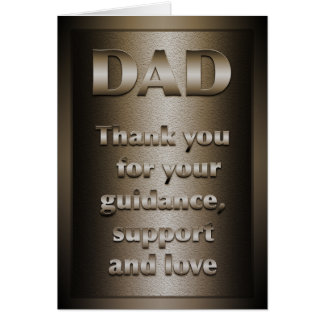 Thank you, Dad (Bronze) Card