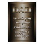 Thank you, Dad (Bronze) Greeting Cards