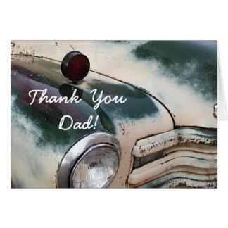 Thank You Dad Custom Truck greeting card
