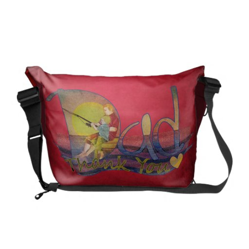 Thank you dad dad and son messenger bag