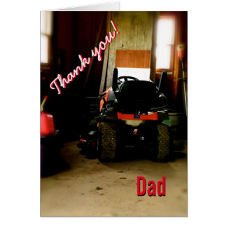 Thank You Dad Father's Day Greeting Card