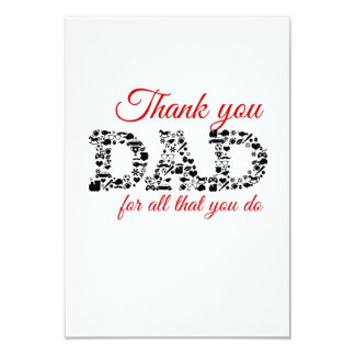 """Thank you Dad for all that you do Invitación 3.5"""" X 5"""""""
