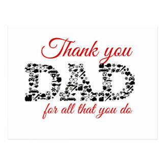 Thank you Dad for all that you do Tarjeta Postal