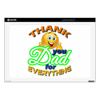 """THANK YOU DAD FOR EVERYTHING. 17"""" LAPTOP DECAL"""