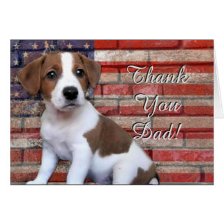 Thank You Dad Jack Russell Terrier greeting card