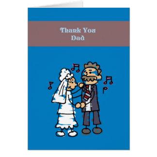 Thank You Dad Wedding Card