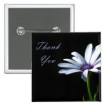Thank You - Daisy 2 Inch Square Button