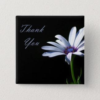 Thank You - Daisy Pinback Button
