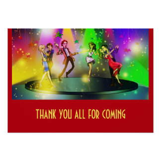 Thank You Dance Party Poster