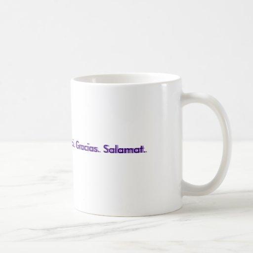 Thank You.  Danke. Merci. Gracias. Salamat., Th... Classic White Coffee Mug