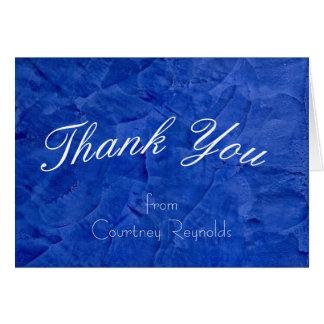 Thank You Dark Blue Greeting Card