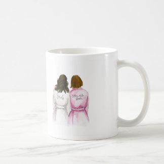 THANK YOU Dark Waves Bride Auburn Bob Mom Coffee Mug
